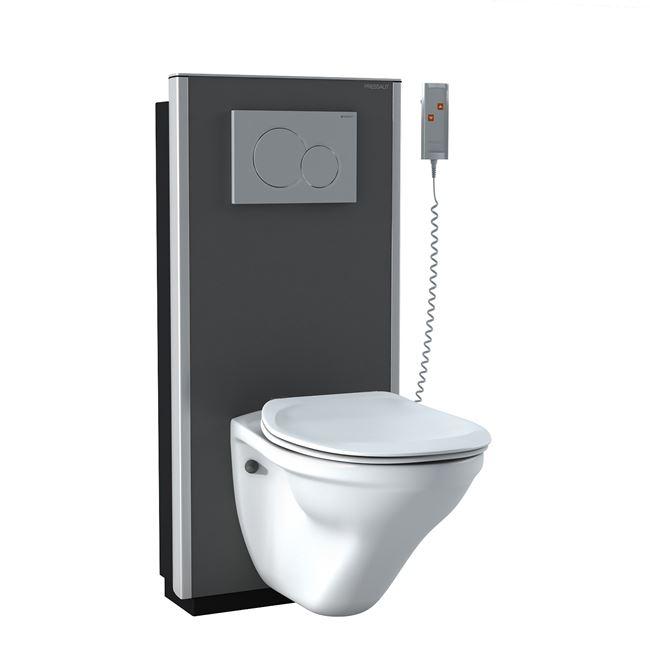 Sæt: inkl. SELECT elektrisk toiletløfter, væghængt toilet og toiletsæde Dania