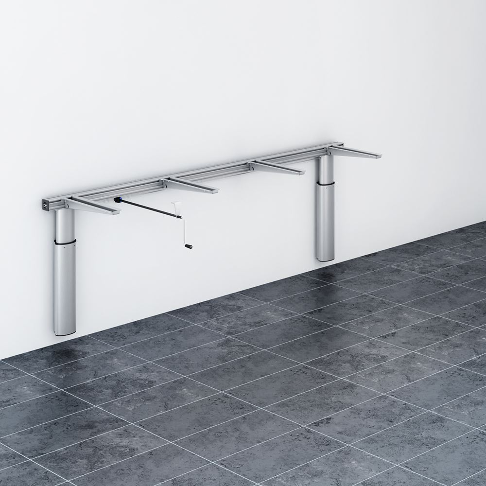Lift for worktop, manually height adjustable
