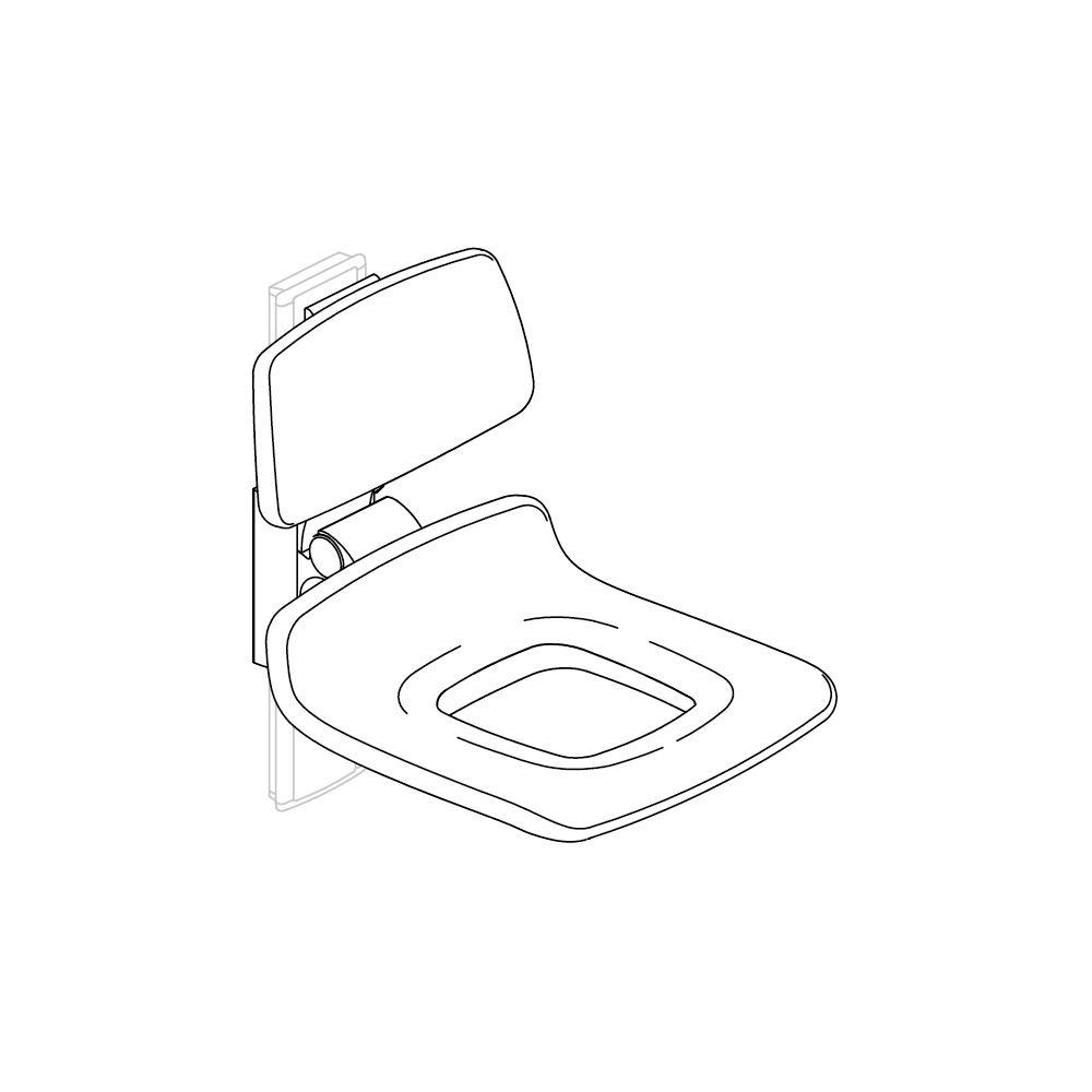 PLUS Duschsitz 450 mit Pflegeöffnung, manuell höhenverstellbar