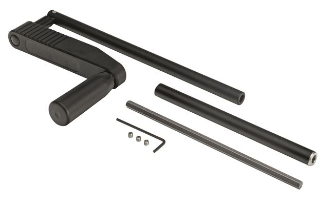Collapsible crank handle