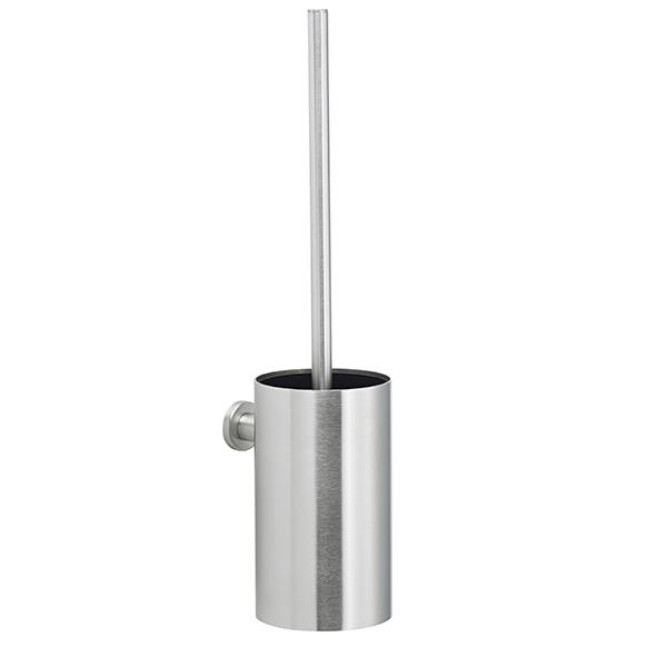 Toilet brush for wall, stainless steel