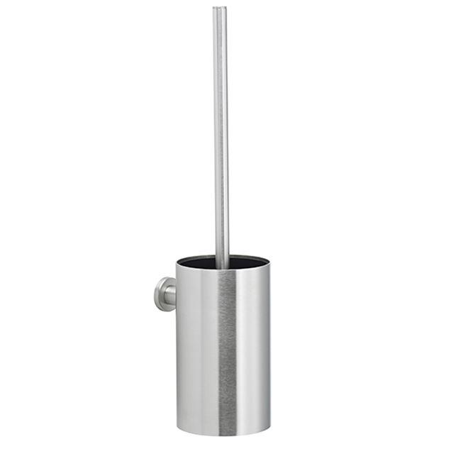 Toiletbørste til vægmontage, m/skål, rustfrit stål