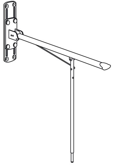 VALUE support arm, height adjustable