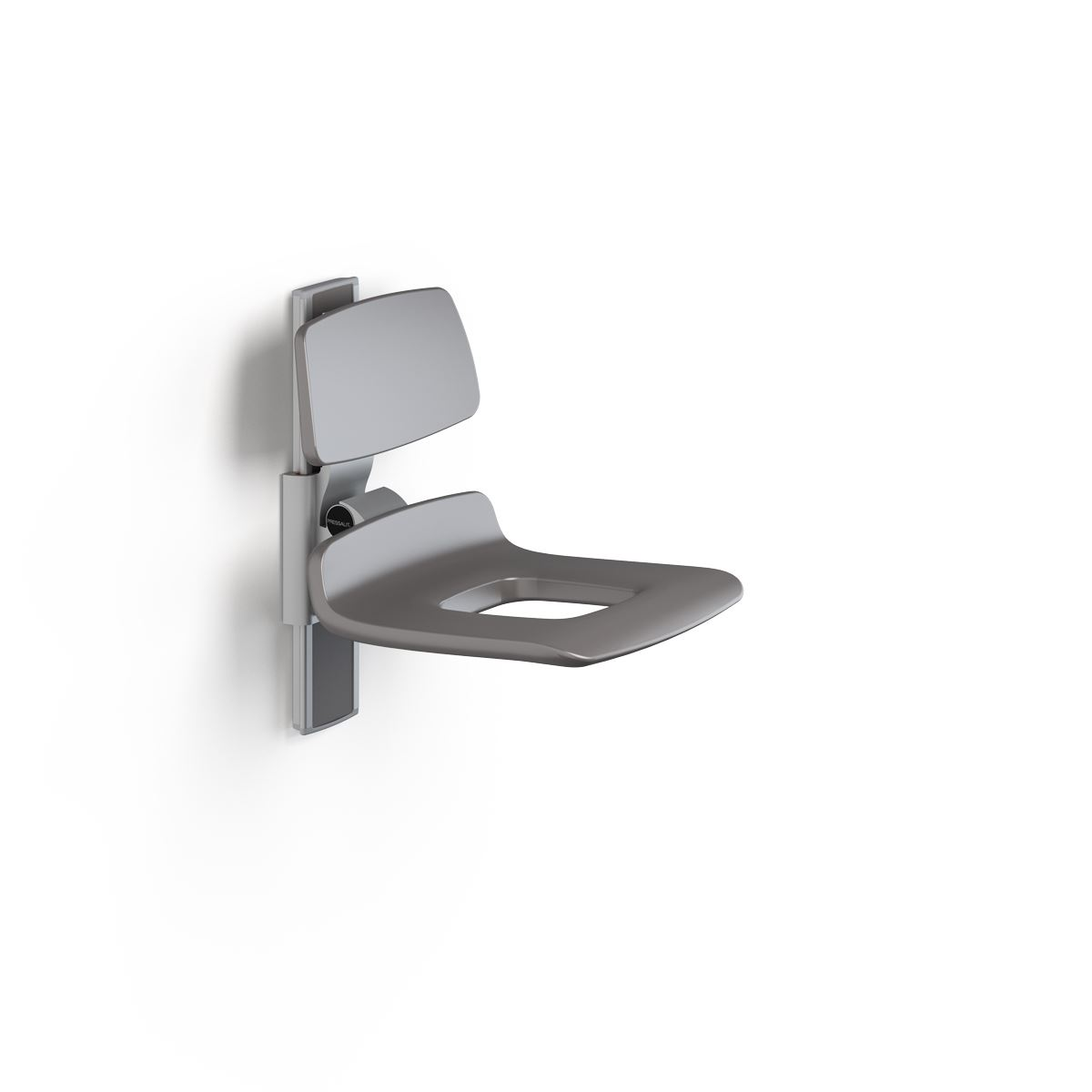 PLUS shower seat 450 with aperture, manually height adjustable