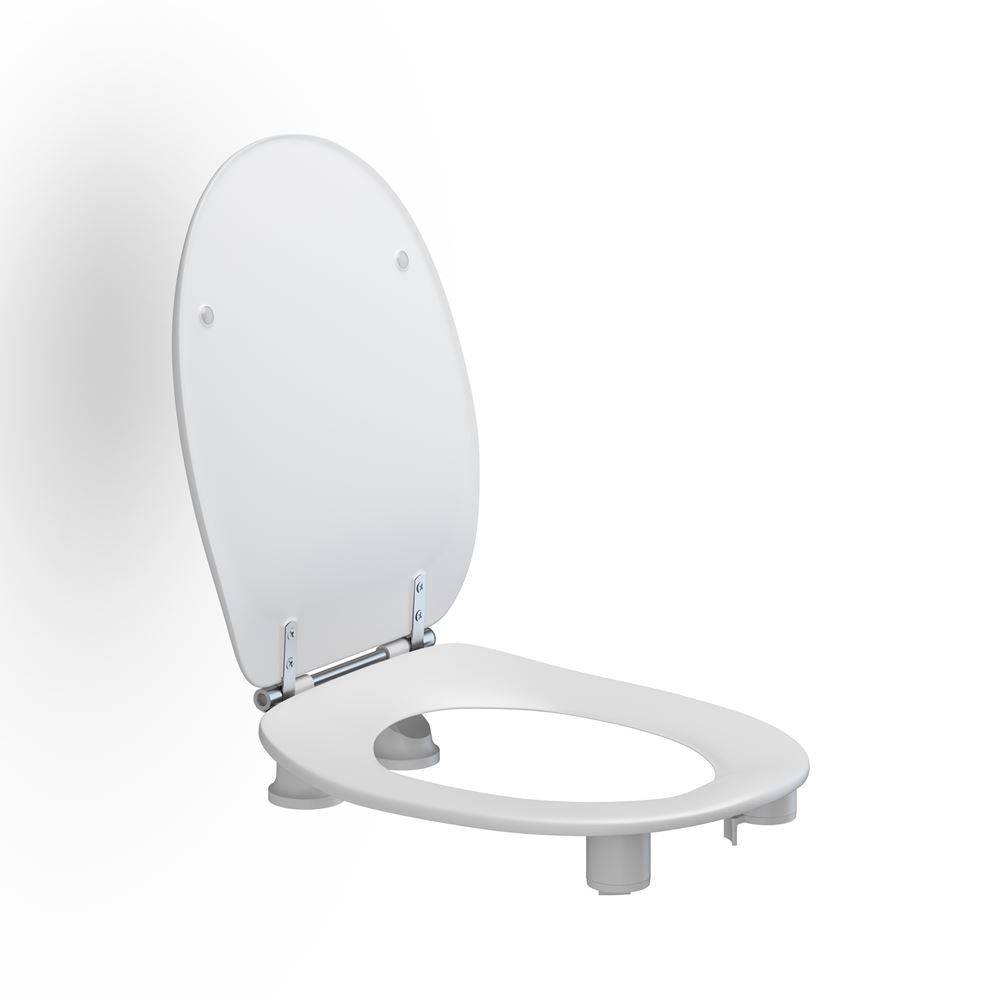 Toilet seat Dania with cover, 50 mm raised