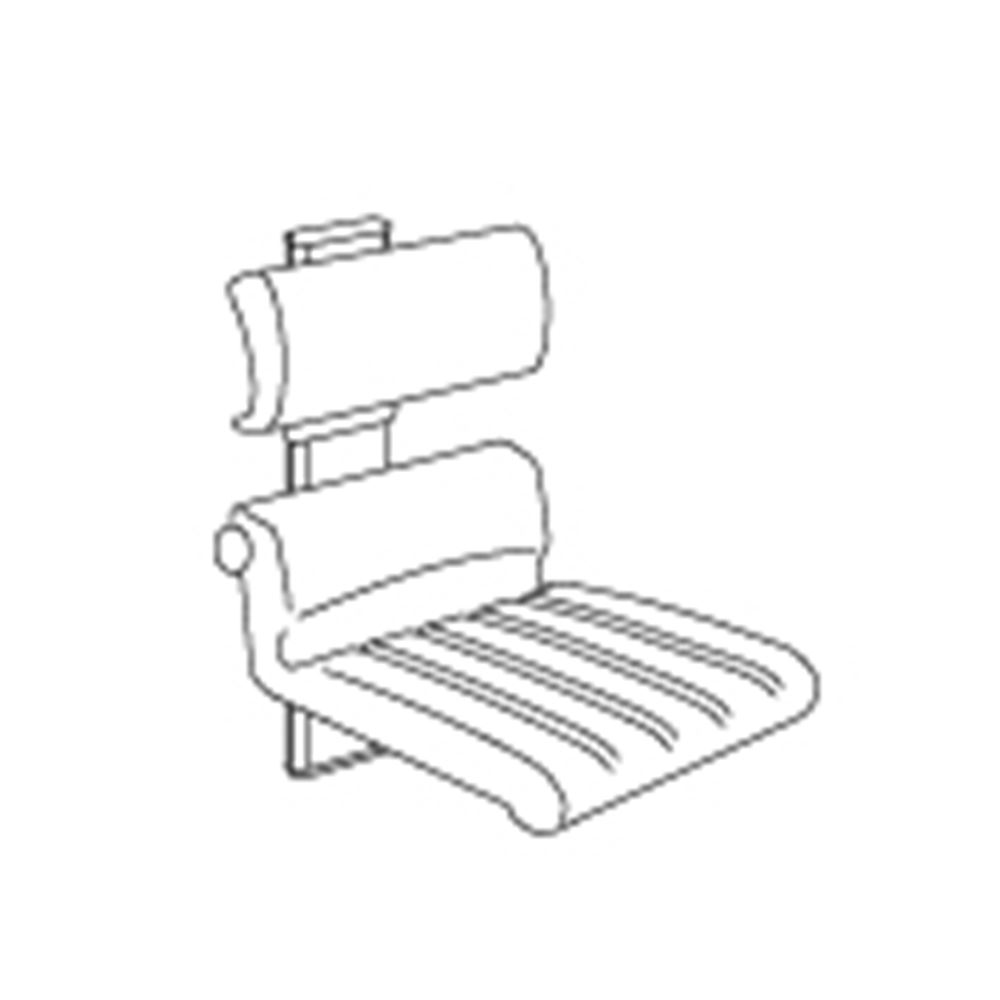 CareSystem shower chair 410, manually height adjustable