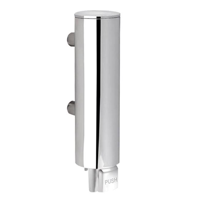Soapdispenser, 330 ml, polished stainless steel