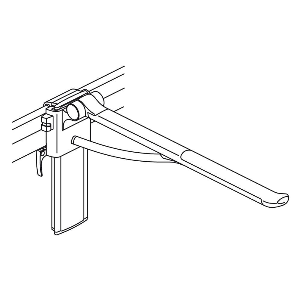 PLUS support arm, height and sideways adjustable