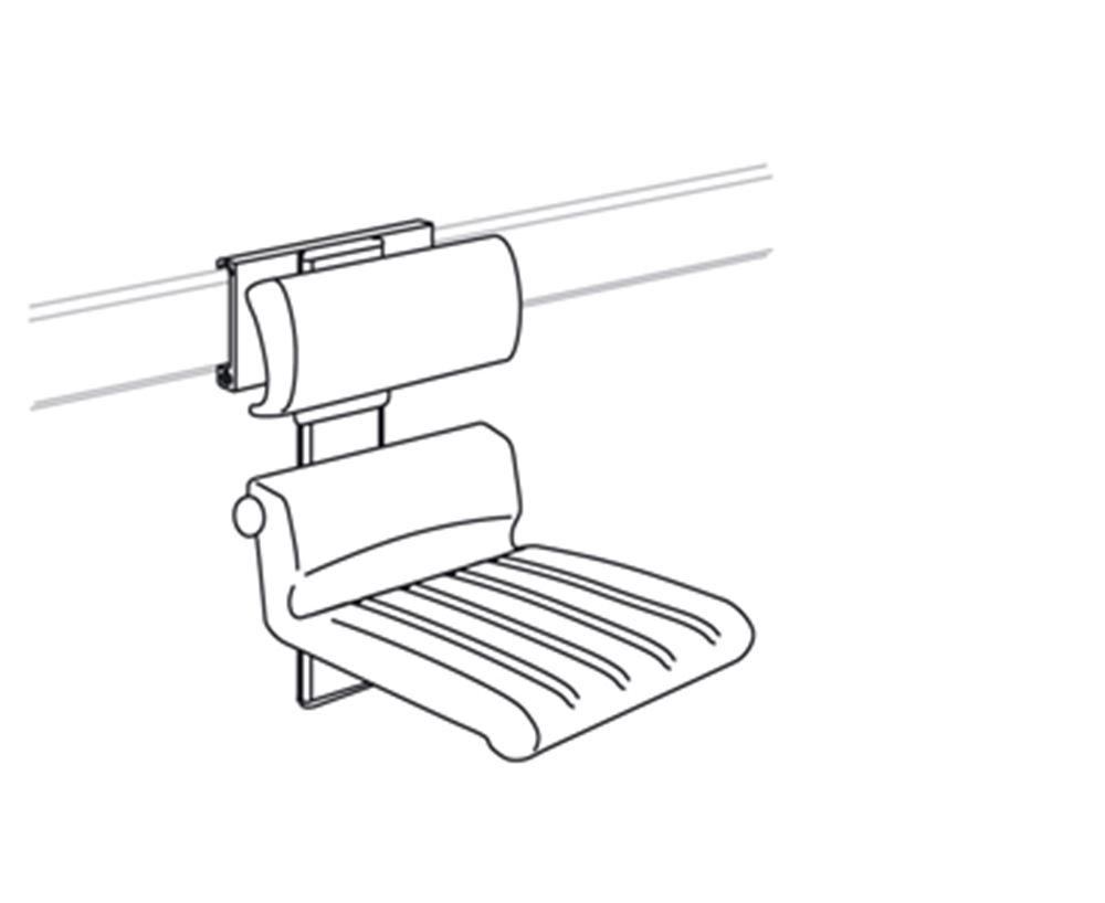 CareSystem chaise de douche 410, réglable en hauteur manuellement et latéralement