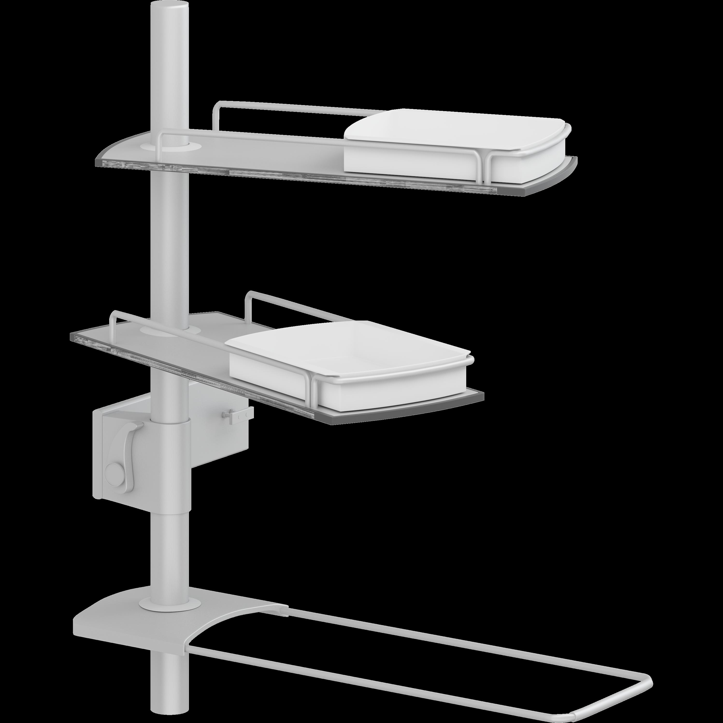 Hyllmodul till PLUS upphängning till tvättställ, 600 mm pelare