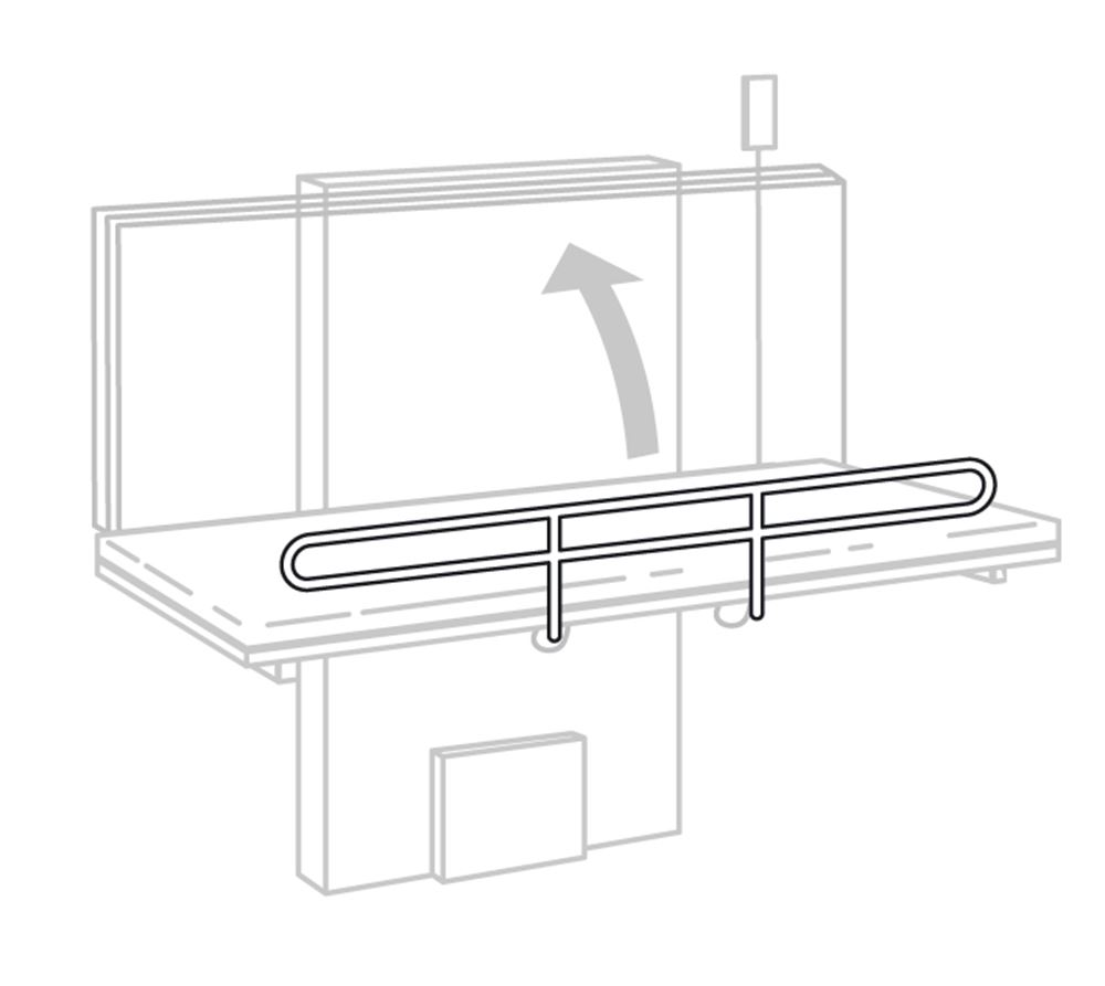 Safety rail for foldable changing tables
