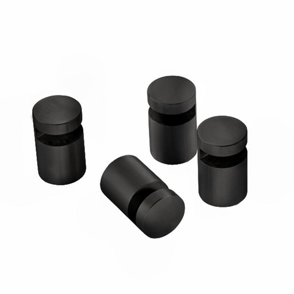Mirror holder, 4 pcs., matt black