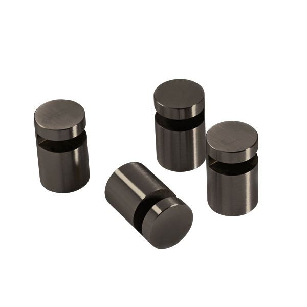 Mirror holder, 4 pcs., black chrome
