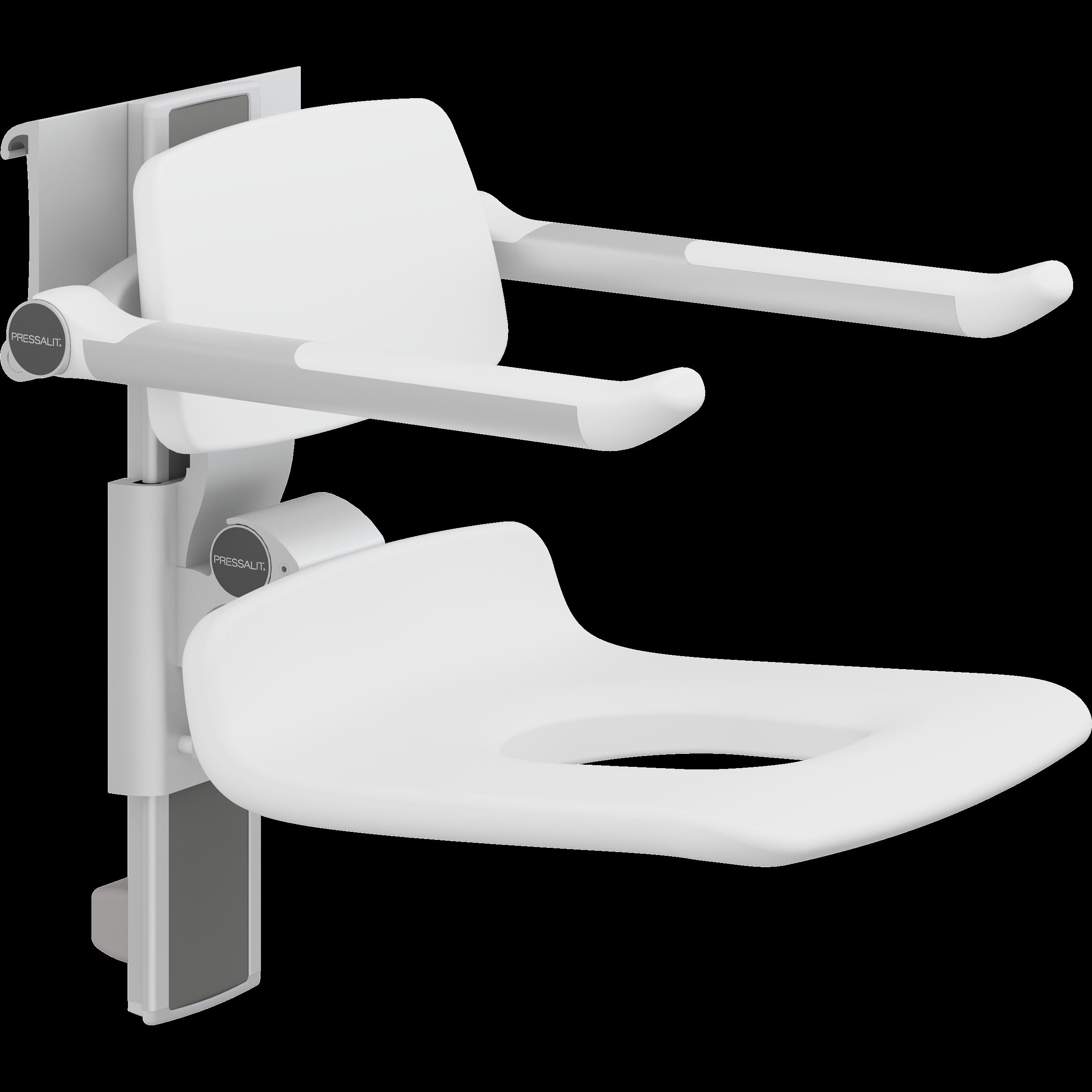 PLUS Duschsitz 450 mit Pflegeöffnung, manuell höhenverstellbar und seitlich verschiebbar